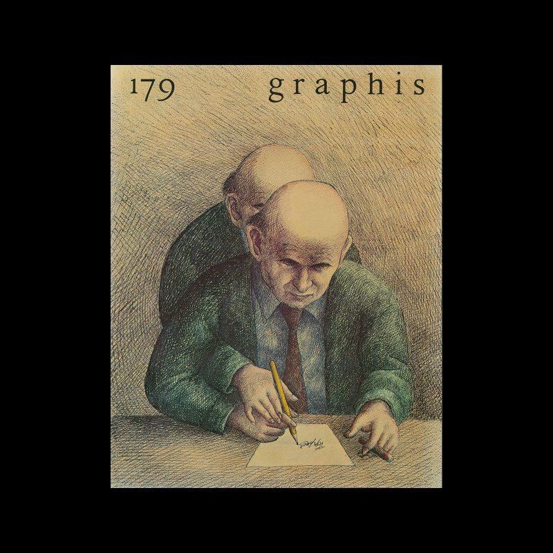 Graphis 179, 1975. Cover design by Roland Topor.