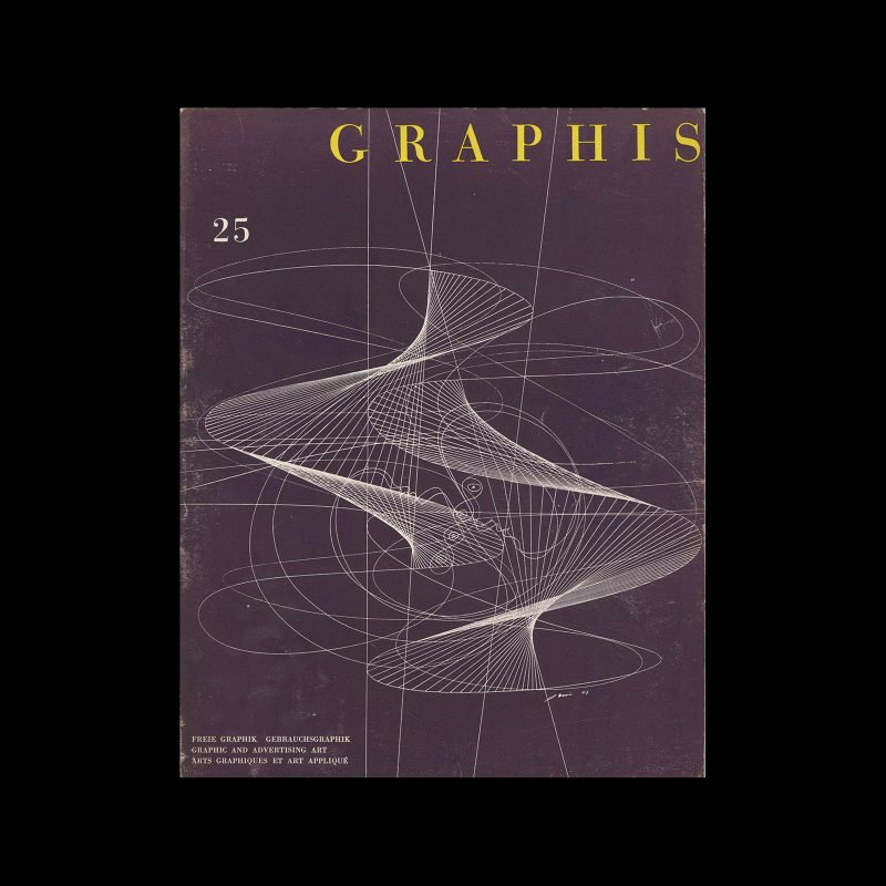 Graphis 25, 1949. Cover design by Hans Erni