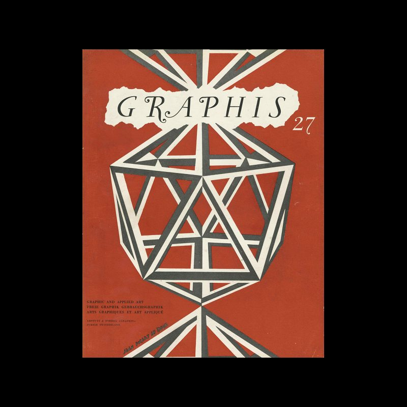 Graphis 27, 1949. Cover design by Jean Picart Le Doux