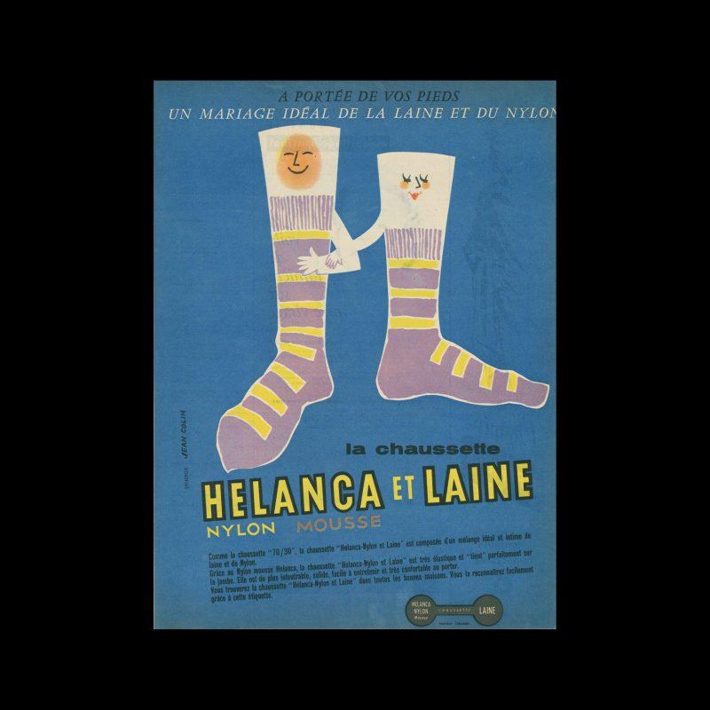 Helanca & Laine, Advertisement, 1957. Designed by Jean Colin.