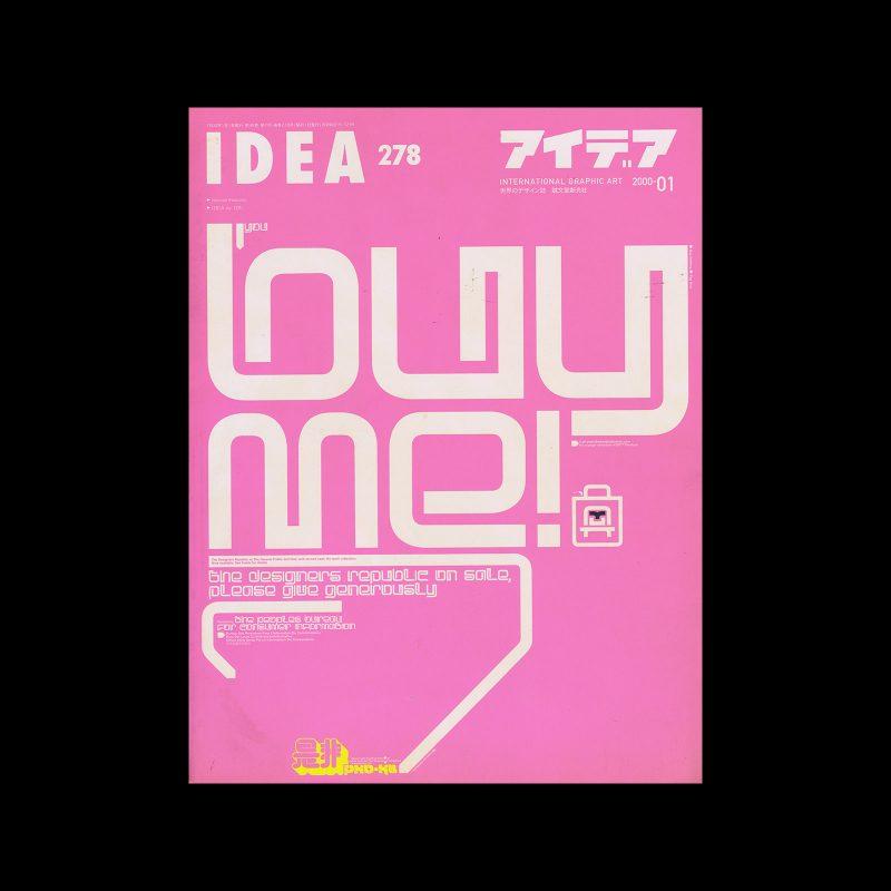 Idea 278, 2000-1. Cover design by The Designers Republic