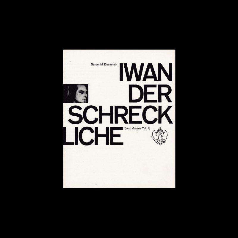 Iwan der Schreckliche. Die Kleine Filmkunstreihe 62 designed by Isolde Baumgart