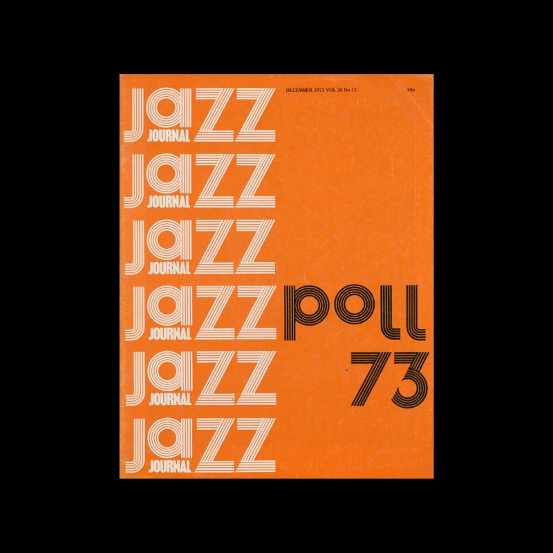 Jazz Journal, 12, 1973. Cover design by Cal Swann