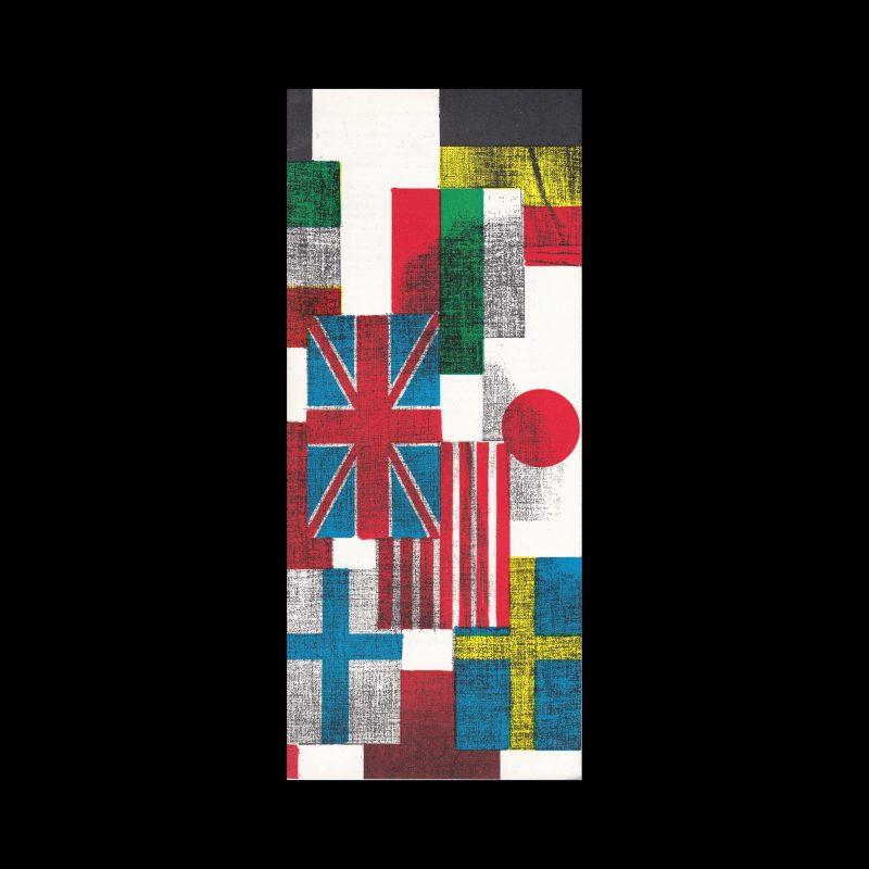 Kerstnummer Grafische Nederland 1969. Design by Pieter Groot.