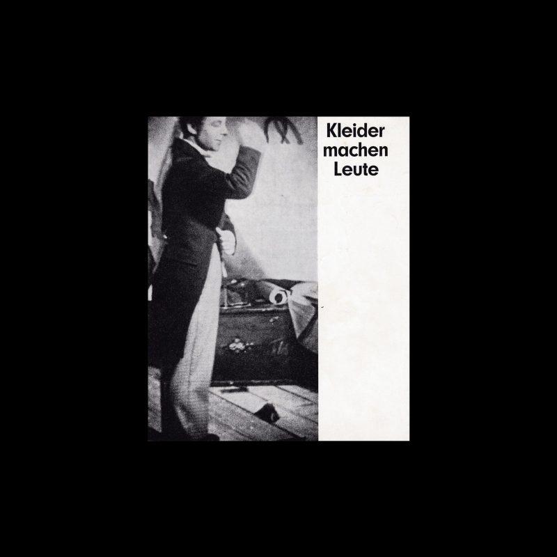 Kleider machen Leute. Die Kleine Filmkunstreihe 32 designed by Isolde Baumgart