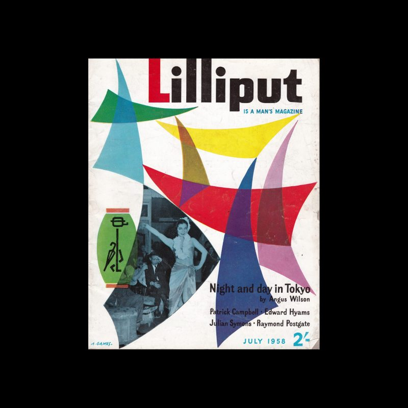Lilliput, July 1958, cover design by Abram Games