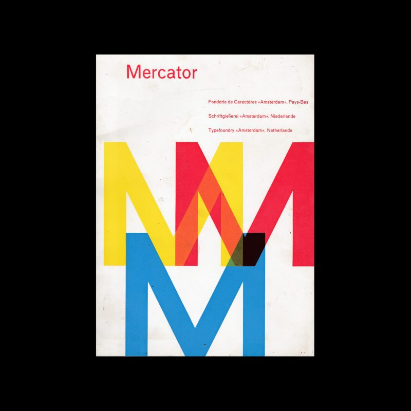 Mercator Type Specimen, Amsterdam Type Foundry, 1958