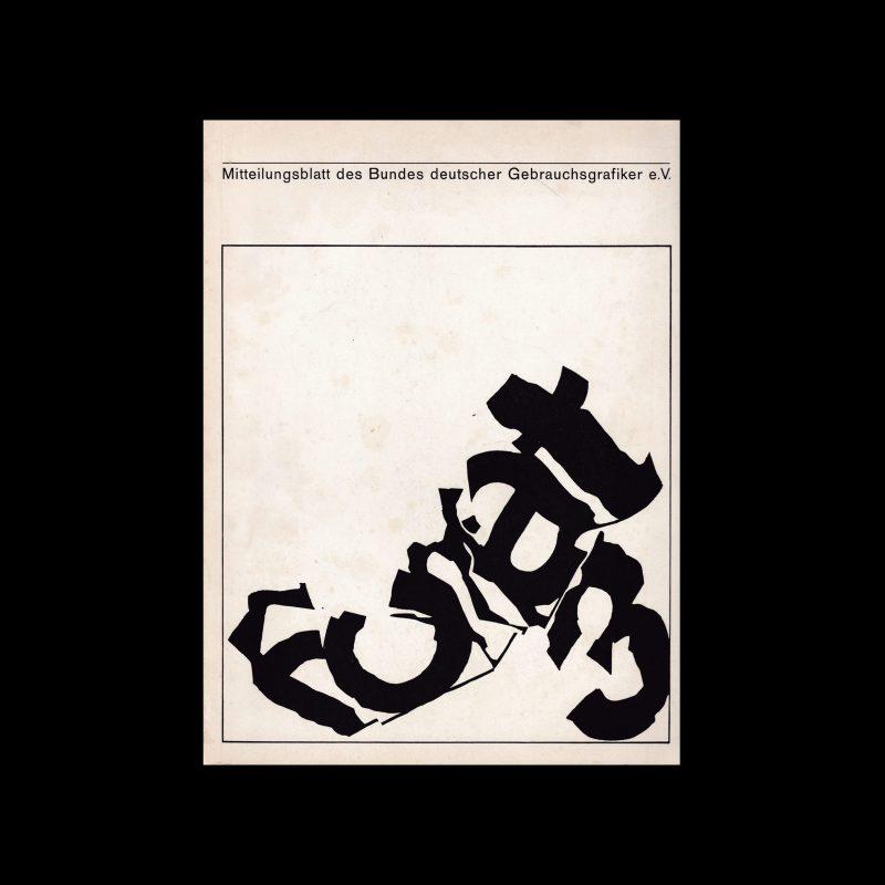 Mitteilungen des Bundes Deutscher Gebrauchsgraphiker 3 1965