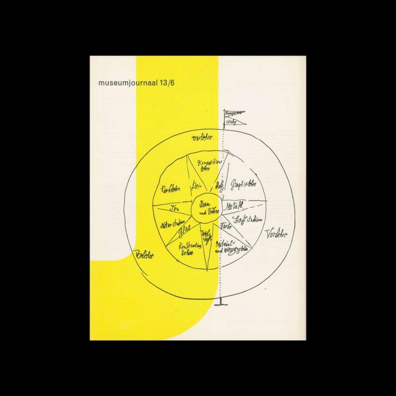 Museumjournaal, Serie 13 no6, 1968. Designed by Jurriaan Schrofer.