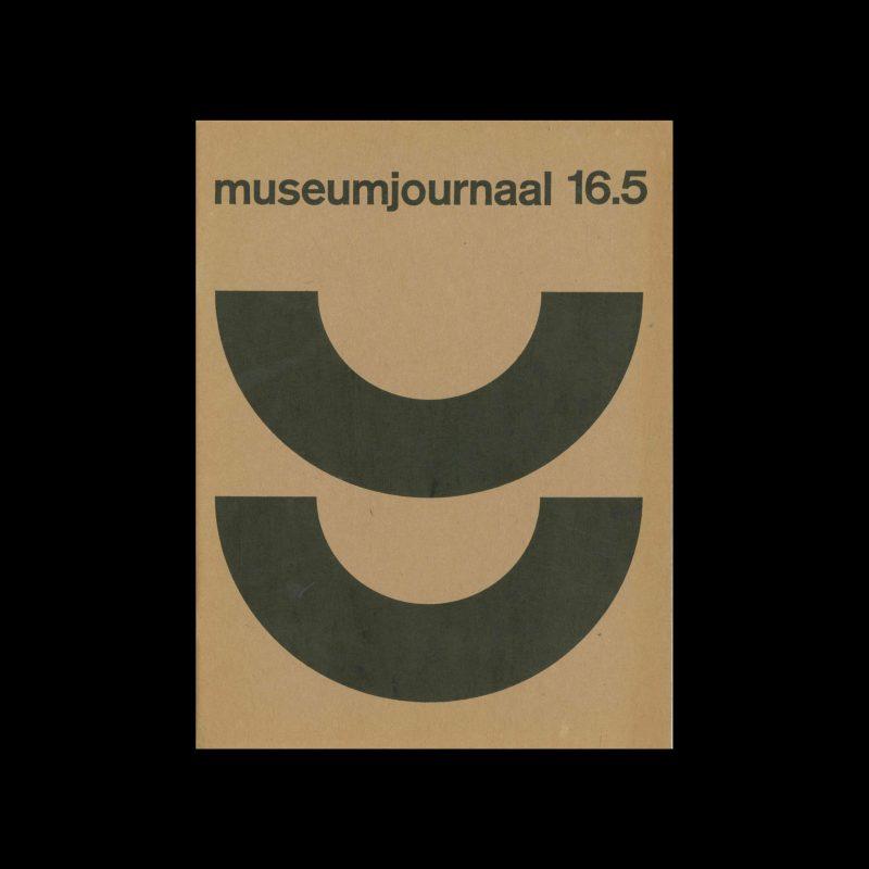 Museumjournaal, Serie 16 no5, 1971. Designed by Jurriaan Schrofer.