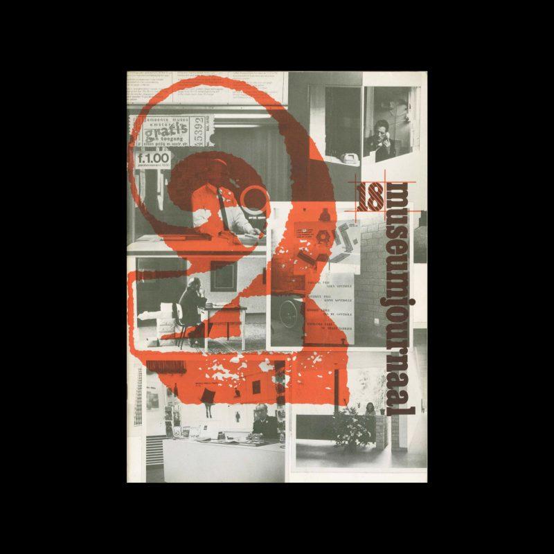 Museumjournaal, Serie 18 no2, 1973. Frank Steenhagen (cover), Jurriaan Schrofer (layout)
