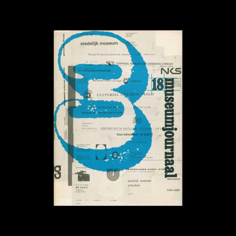 Museumjournaal, Serie 18 no3, 1973. Frank Steenhagen (cover), Jurriaan Schrofer (layout)