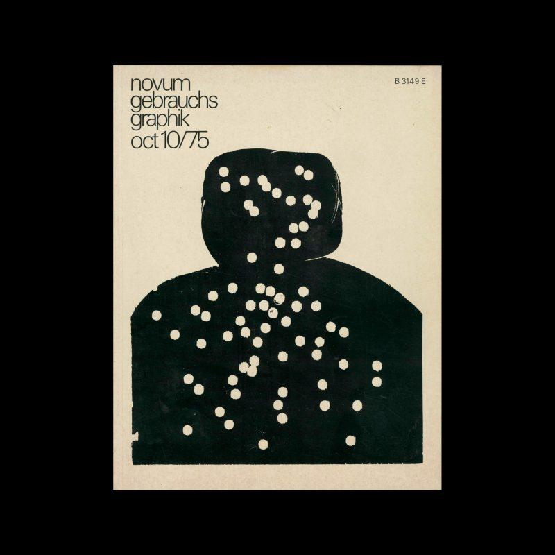 Novum Gebrauchsgraphik, 10, 1975. Cover design by Hap Grieschaber