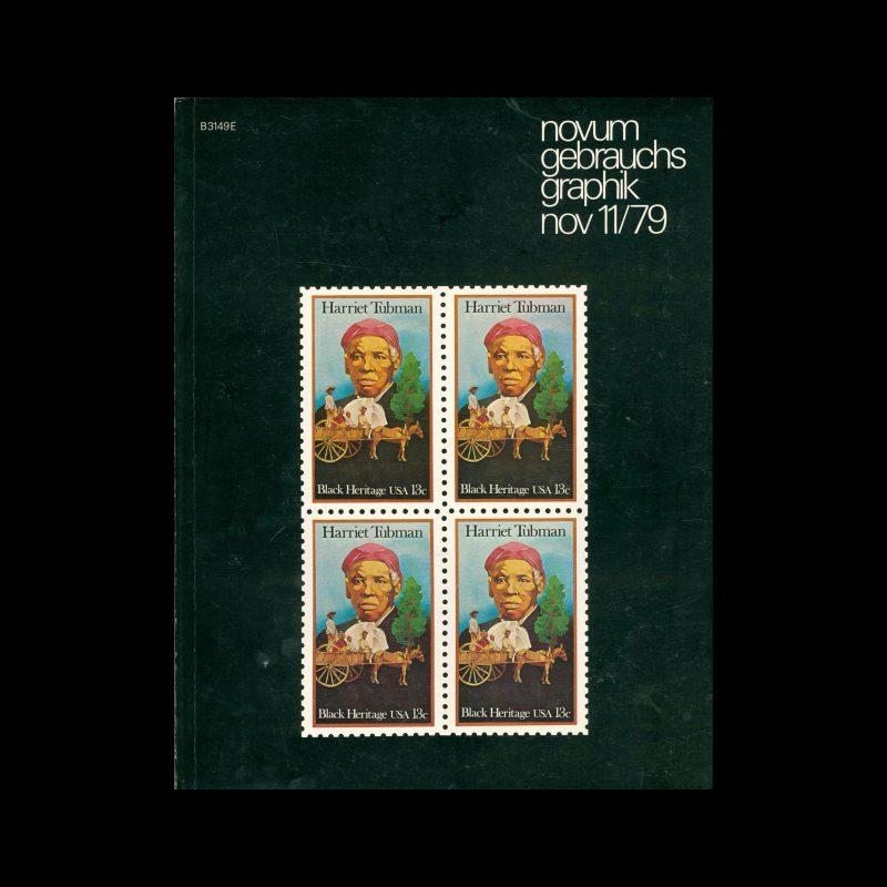 Novum Gebrauchsgraphik, 11, 1979. Cover design by Jerry Pinkney