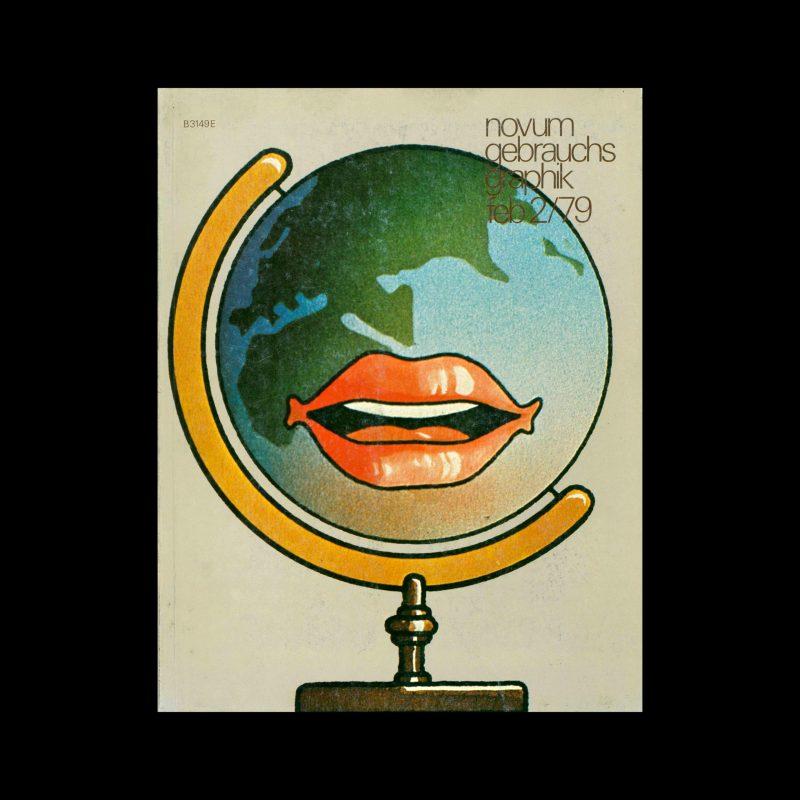 Novum Gebrauchsgraphik, 2, 1979. Cover design by Wilfried Gebhard