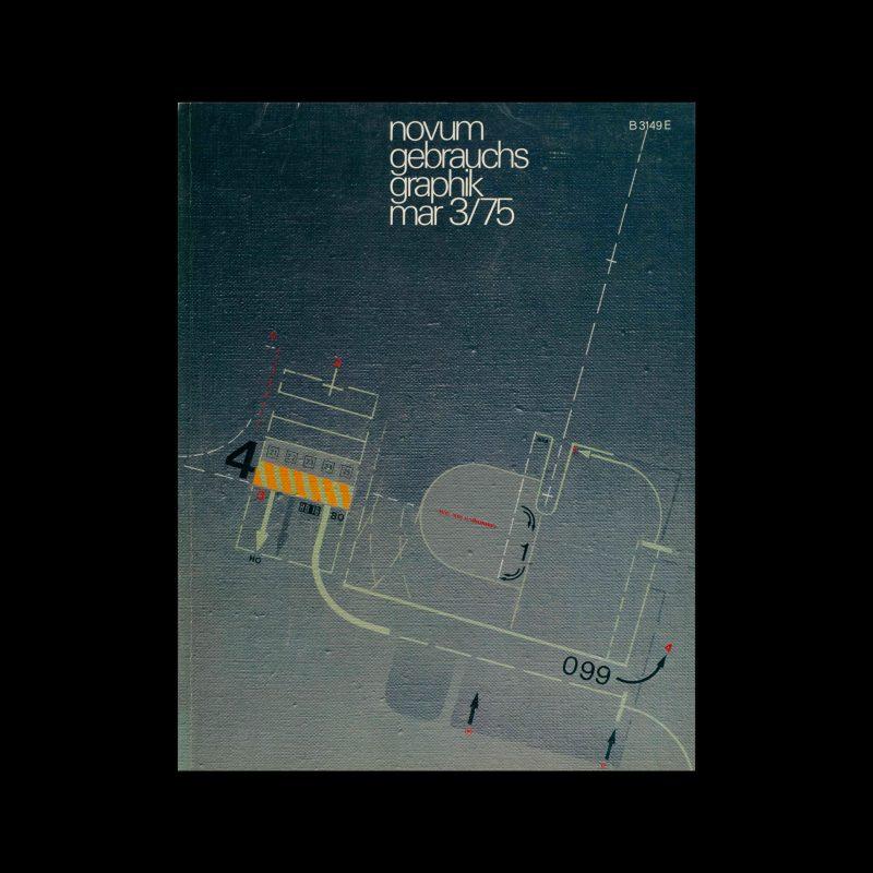 Novum Gebrauchsgraphik, 3, 1975. Cover design by Rainer Wittenborn