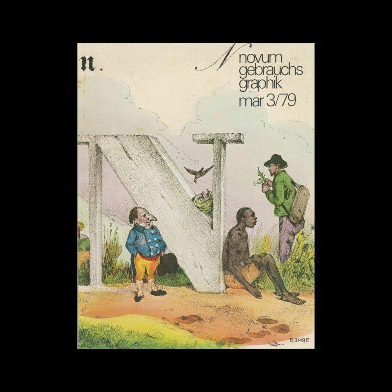 Novum Gebrauchsgraphik, 3, 1979. Cover design by J.Gschihay