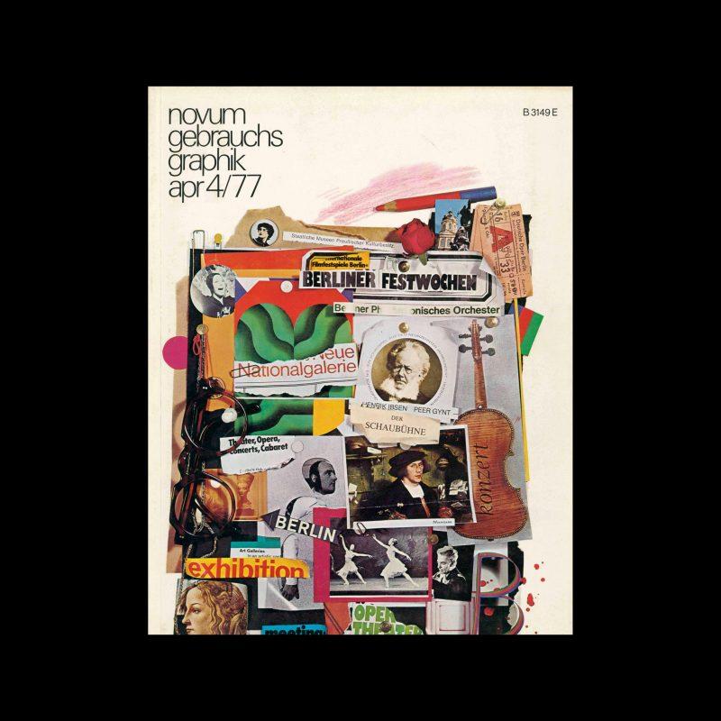 Novum Gebrauchsgraphik, 4, 1977. Cover design by Jürgen Spohn