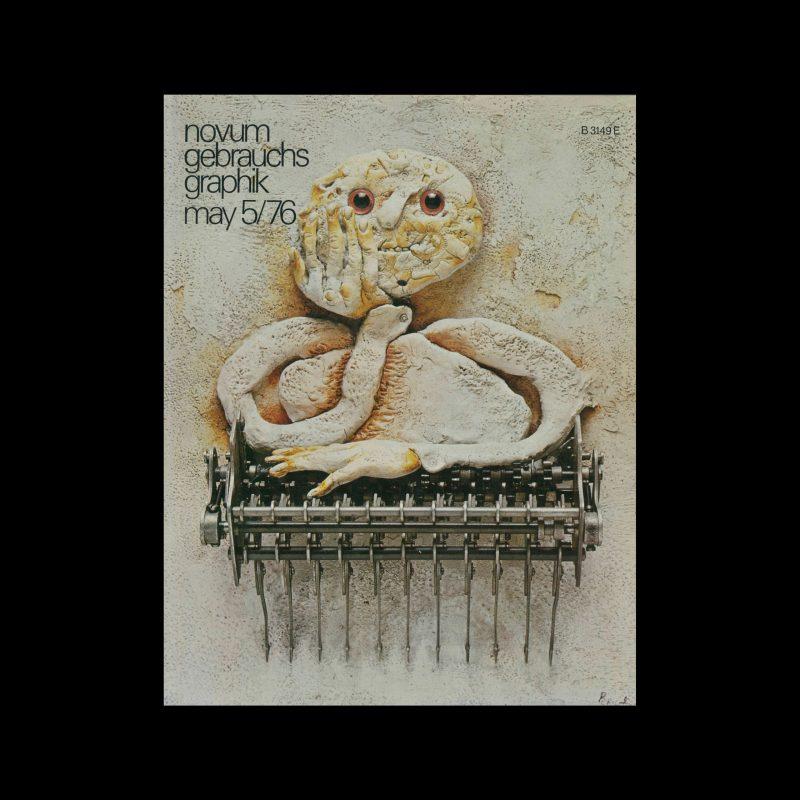 Novum Gebrauchsgraphik, 5, 1976. Cover design by Tullio Pericoli
