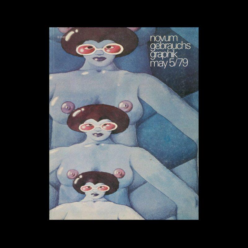 Novum Gebrauchsgraphik, 5, 1979. Cover design by Karl W.Henschel & Bengt Fosshag