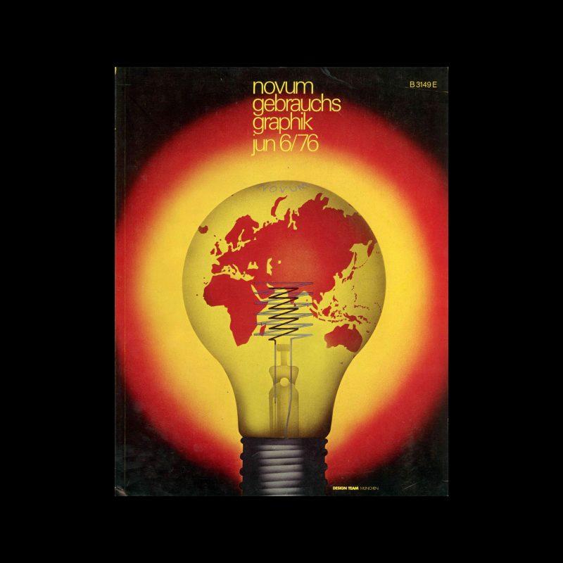 Novum Gebrauchsgraphik, 6, 1976. Cover design by Design Team