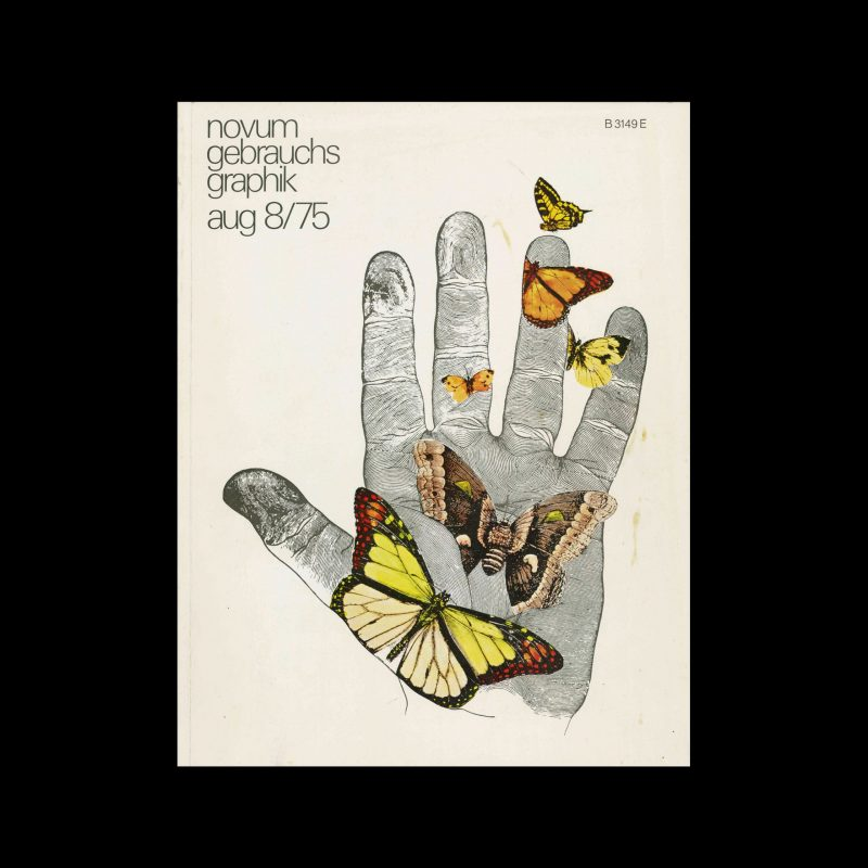 Novum Gebrauchsgraphik, 8, 1975. Cover design by Lanny Sommese