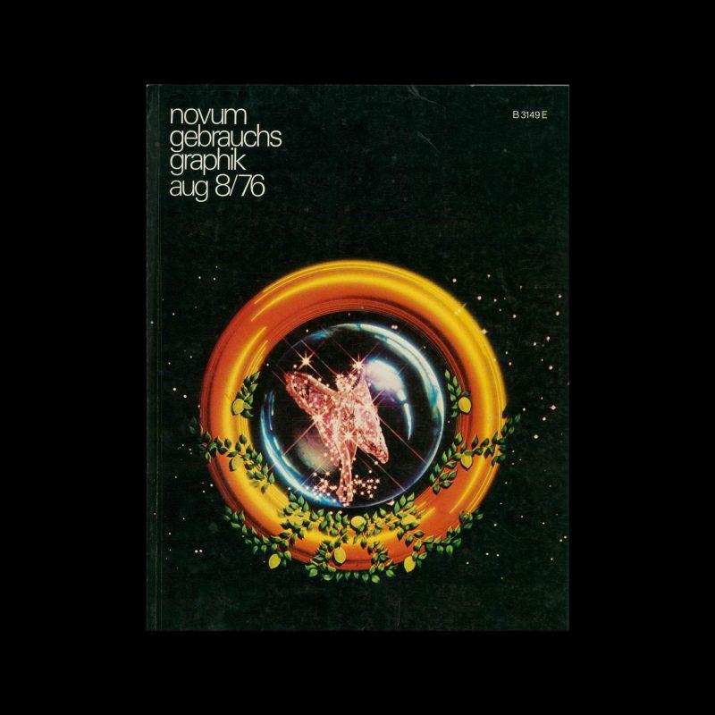 Novum Gebrauchsgraphik, 8, 1976. Cover design by Richard Taylor and Wayne Kimbell