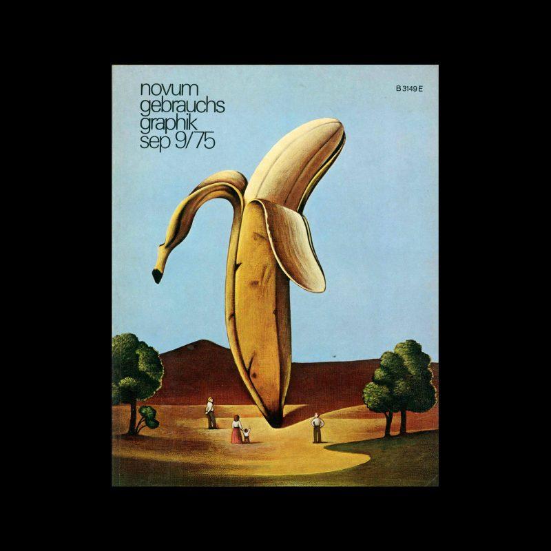 Novum Gebrauchsgraphik, 9, 1975. Cover design by Paul Davis