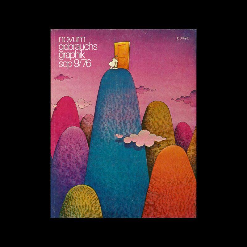 Novum Gebrauchsgraphik, 9, 1976. Cover design by Guillermo Mordillo