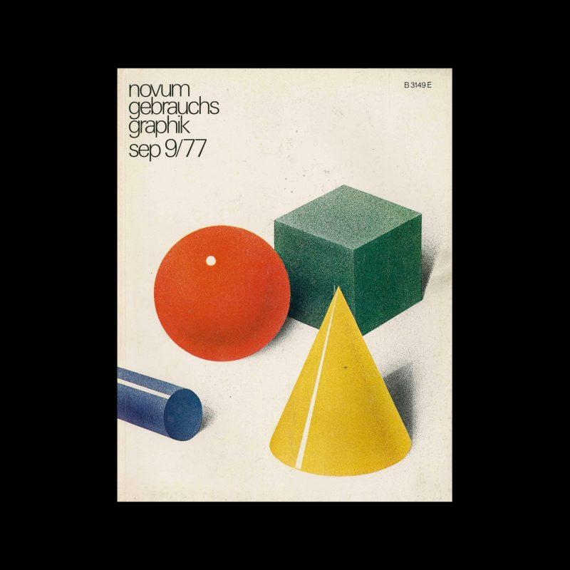 Novum Gebrauchsgraphik, 9, 1977. Cover design by Thomas Grabinger