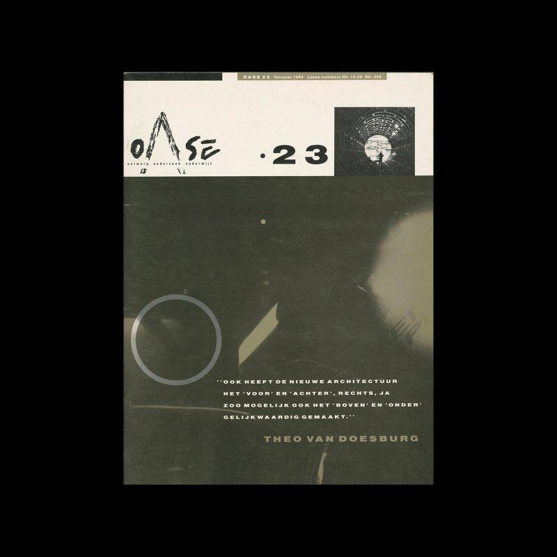 OASE 23, 1989. Design by Mirjam van den Haspel