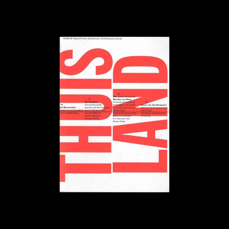 OASE 68, 2005. Designed by Karel Martens, Jeff Ramsey, Werkplaats Typografie