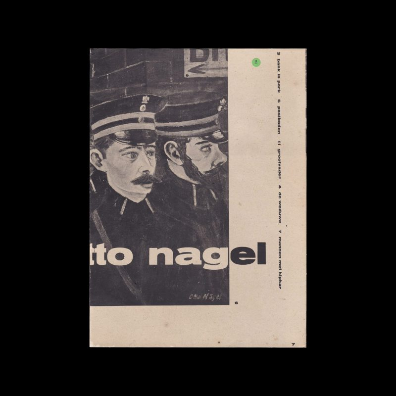 Otto Nagel, Stedelijk Museum Amsterdam, 1962 designed by Willem Sandberg