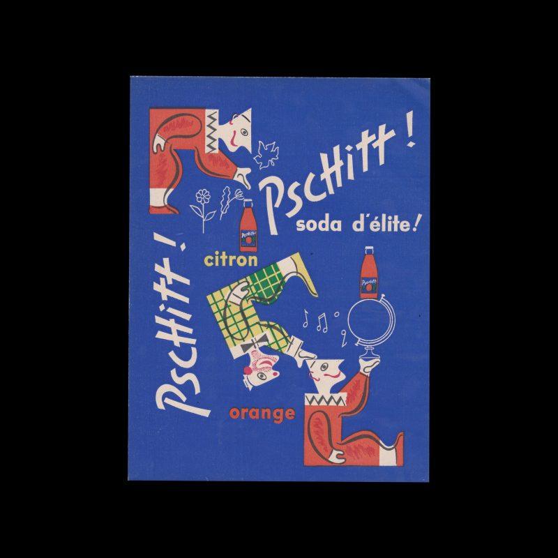 """PSCHITT """"SODA D'ÉLITE"""" Couverture de cahier"""
