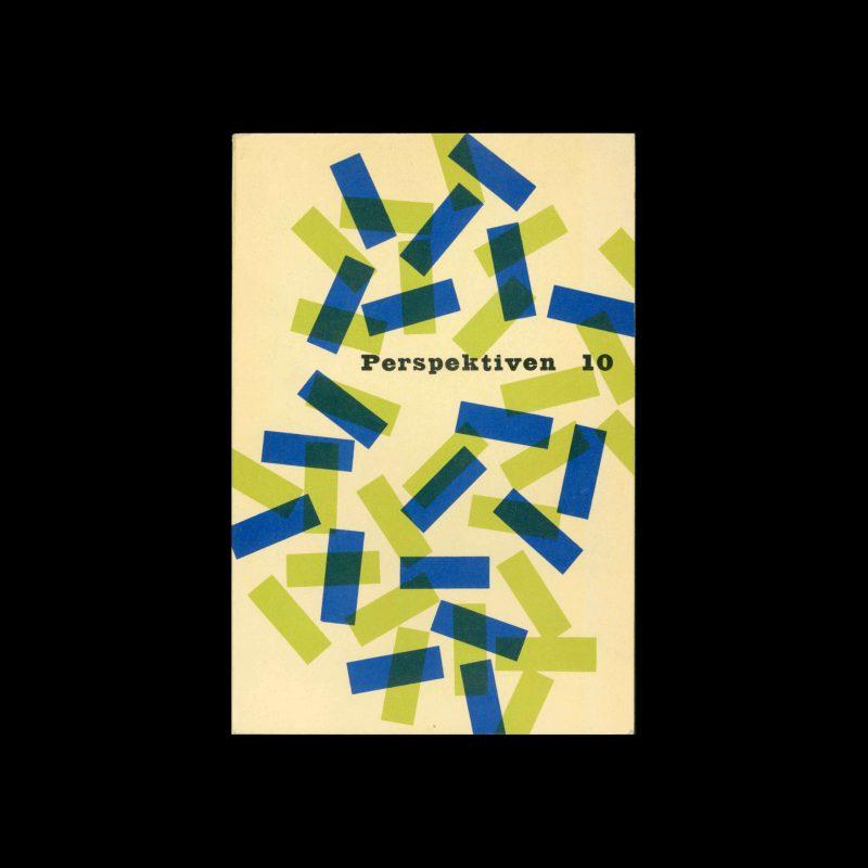 Perspektiven, Literatur, Kunst, Musik, 10, 1955. Cover design by Jerome Kuhl