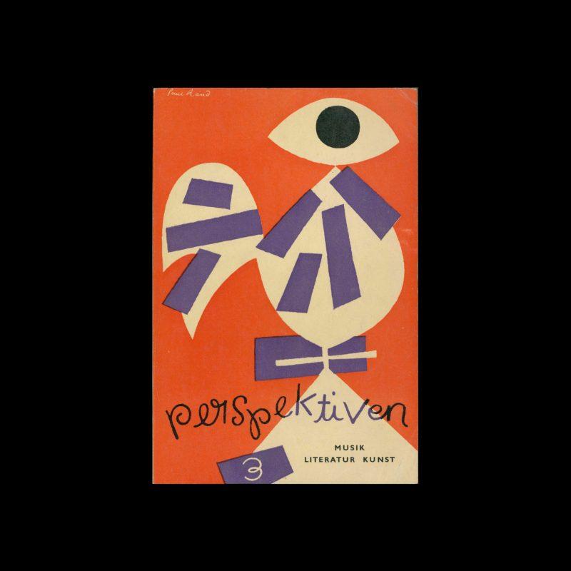Perspektiven, Literatur, Kunst, Musik, 3, 1953. Cover design by Paul Rand