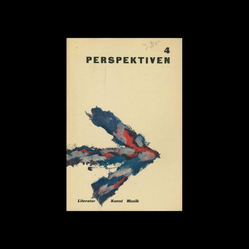 Perspektiven, Literatur, Kunst, Musik, 4, 1953. Cover design by Erle Yahn