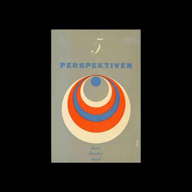 Perspektiven, Literatur, Kunst, Musik, 5, 1953. Cover design by Alvin Lustig