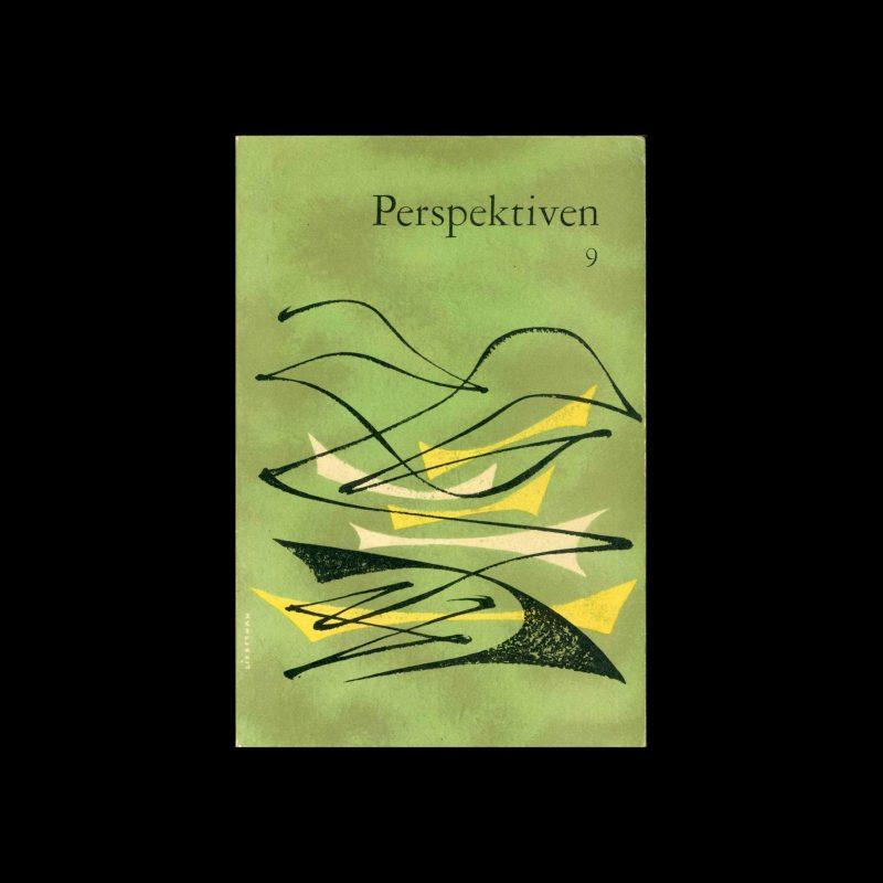 Perspektiven, Literatur, Kunst, Musik, 9, 1954. Cover design by Frank Liebermann