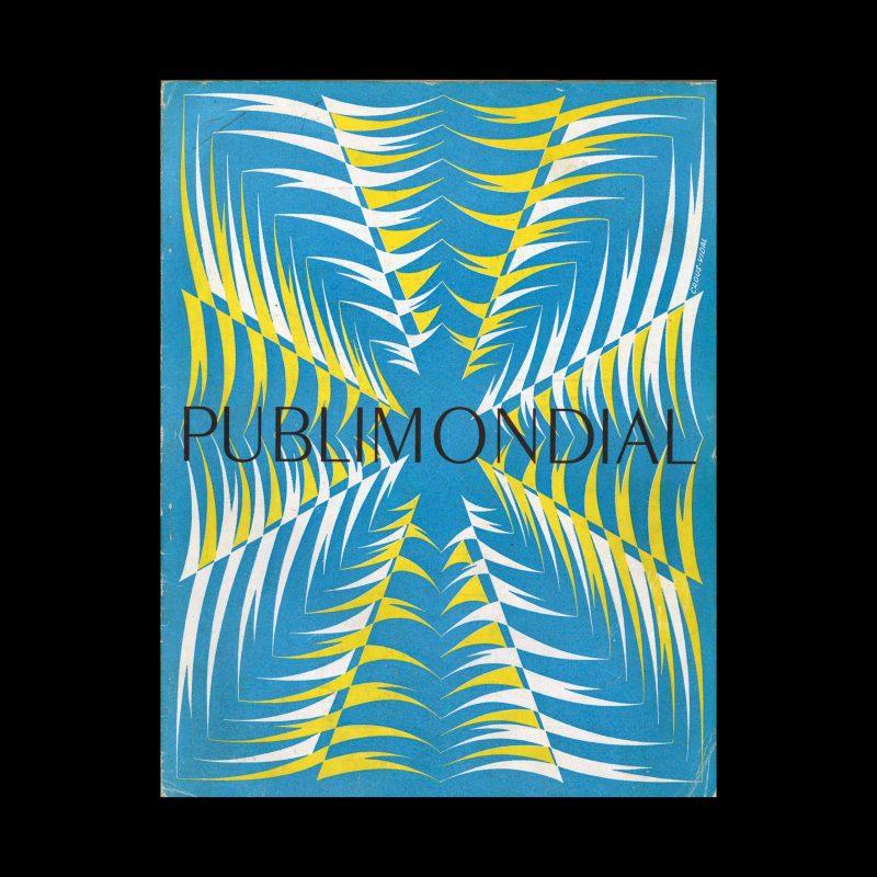 Publimondial 29, 1950. Cover design by Enric Crous Vidal.