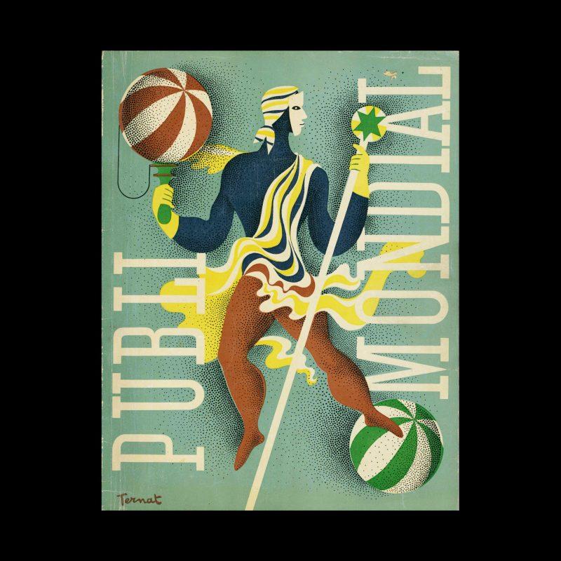 Publimondial 9, 1947. Cover design by Paul Ternat
