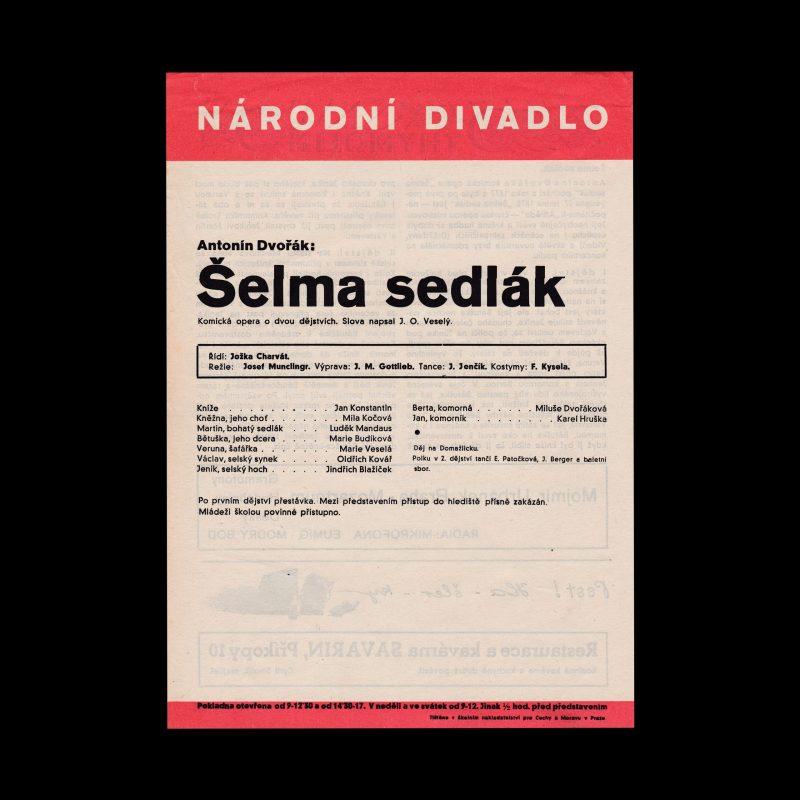 Šelma sedlák designed by Ludislav Sutnar