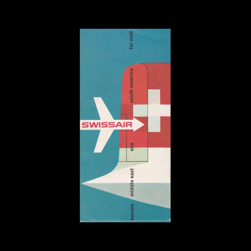 Swissair-Routes-Brochure1950s.-Designed-by-Hugo-Welti-cover