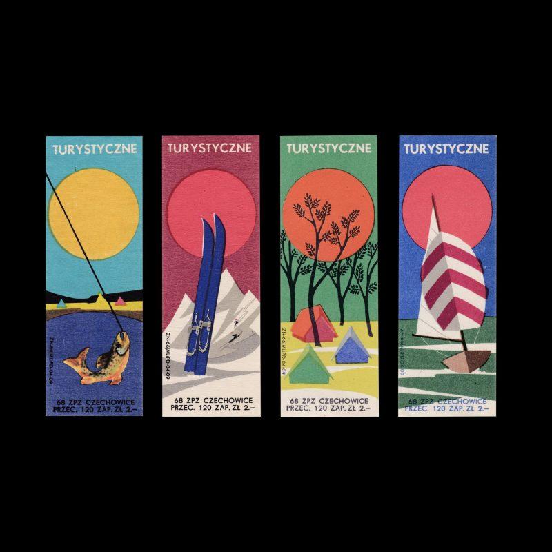 Tourist, Polish 1968 Matchbox label set