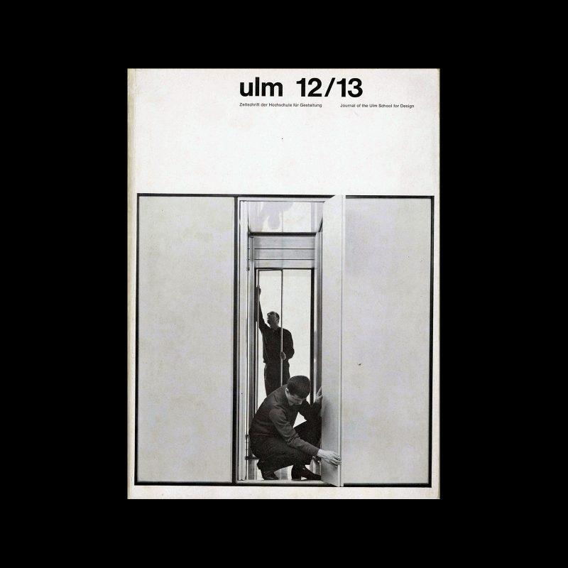 Ulm 12/13, Journal of the Hochschule fur Gestaltung, 1965