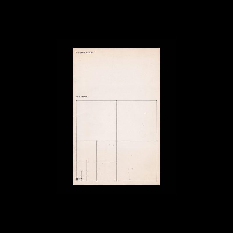 Vormgeving - door wie?, 1973 designed by Wim Crouwel