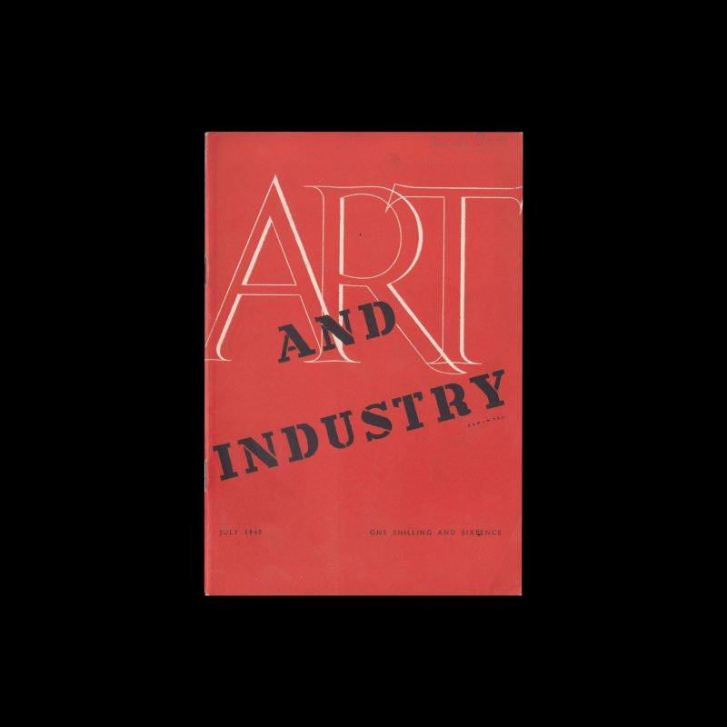 Art and Industry magazine July 1948