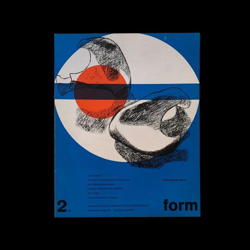Form, Internationale Revue 2, 1958, Cover: Le Corbusier, Inners: Müller-Blase
