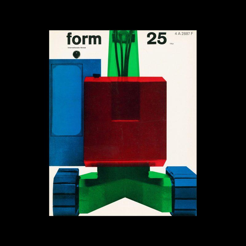 Form, Internationale Revue 25, 1963. Designed by Karl Oskar Blase