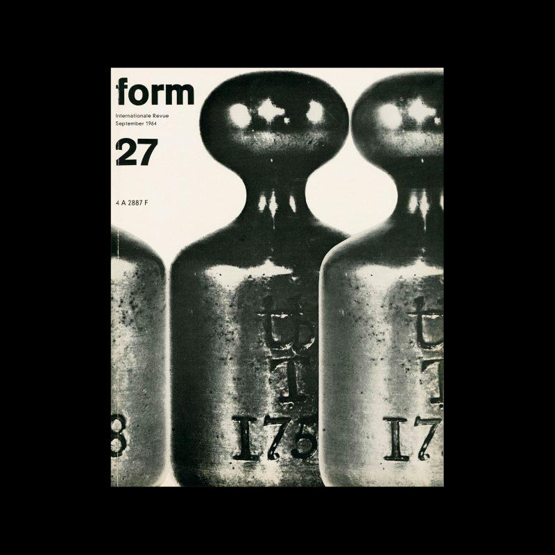 Form, Internationale Revue 27, September 1964. Designed by Karl Oskar Blase